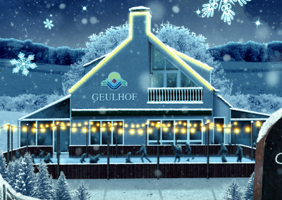 Geulhof in Wintersfeer